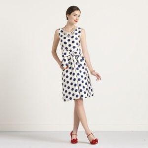 Kate Spade Jillian Dress Blue & White Polka Dot